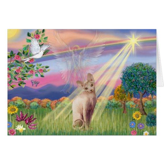 Sphynx Katze - Wolken-Engel Grußkarte