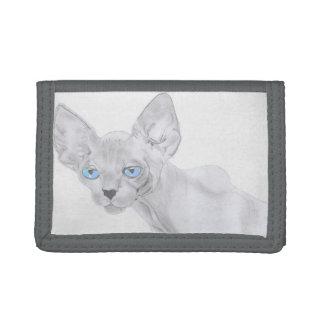 Sphynx Katzen-Kunst-Geldbörse
