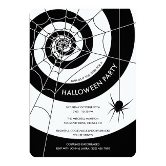 Spiderweb Halloween-Party-Einladungen Karte