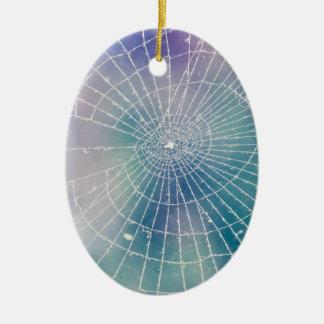 Spiderweb Ovales Keramik Ornament