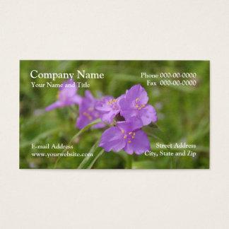 Spiderwort-Wildblume-Geschäfts-Karte Visitenkarte
