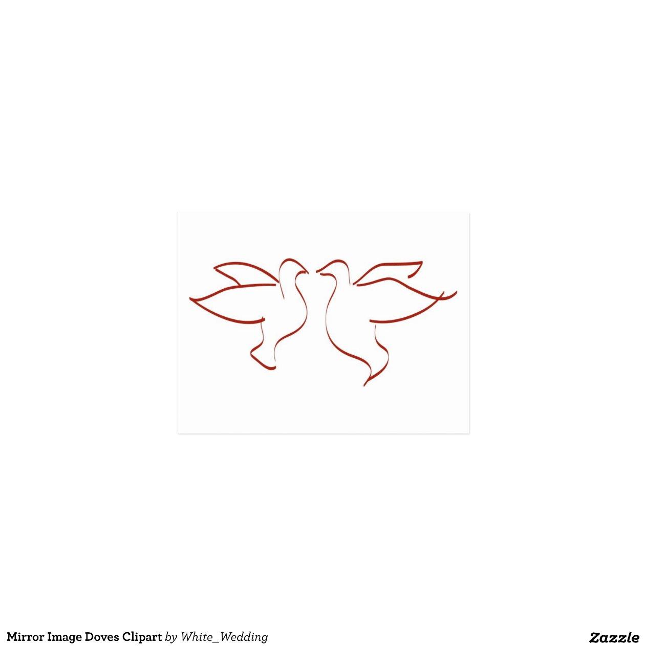 Spiegel bild tauben clipart postkarte zazzle for Bild spiegel