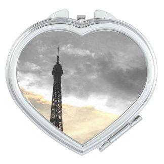 Spiegel Herz Umdrehung Eiffel, aber und Geld Taschenspiegel
