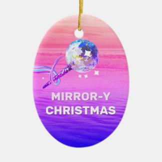 Spiegel-y Weihnachten Ovales Keramik Ornament