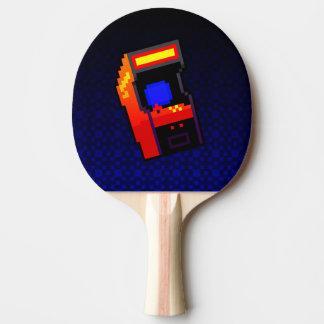 Spiel an! blaues Säulengang Klingeln Pong Paddel Tischtennis Schläger