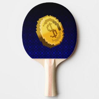 Spiel an! Münze Klingeln Pong Paddel Tischtennis Schläger