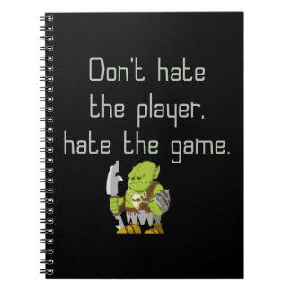 Spiel-Aussenseiter: Hassen Sie nicht den Spieler Spiral Notizblock