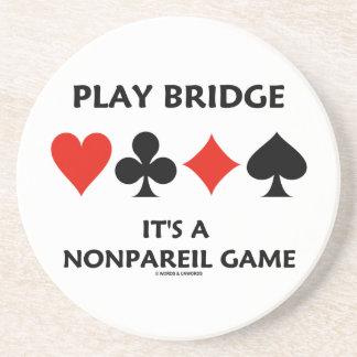 Spiel-Brücke ist es eine unerreichte Karten-Anzüge Untersetzer