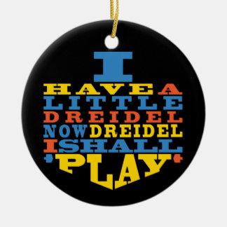 """Spiel Chanukkas """"Dreidel"""" /Circle Verzierung Keramik Ornament"""