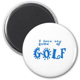 Spiel des Golfs Runder Magnet 5,7 Cm