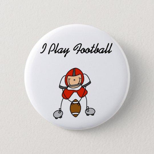 Spiel-Fußball des Rot-I Runder Button 5,7 Cm