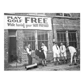 Spiel-Golf frei (beim Lassen Ihres Anzugs drücken) Postkarten