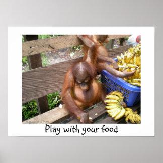 Spiel mit Ihrer Nahrung Poster
