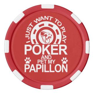 Spiel-Poker und Pet meinen Papillon Hund Poker Chip Set