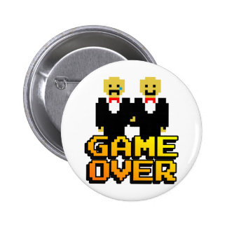 """""""Spiel über"""" Heirat (Homosexuelles, 8-Bit) Runder Button 5,7 Cm"""