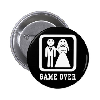 Spiel vorbei runder button 5,1 cm