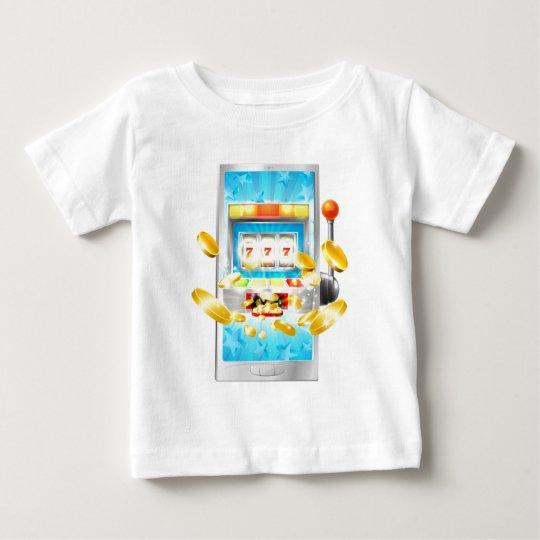 Spielautomat-Handy-Konzept Baby T-shirt