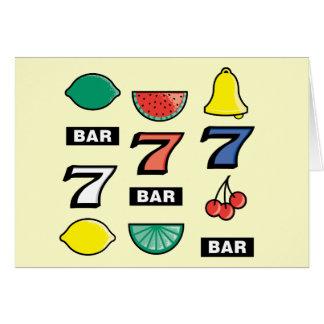 Spielautomat kerbt Früchte - das Spiel, zum des Karte