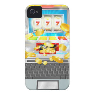 Spielautomat-Laptop-Computer Konzept iPhone 4 Hüllen