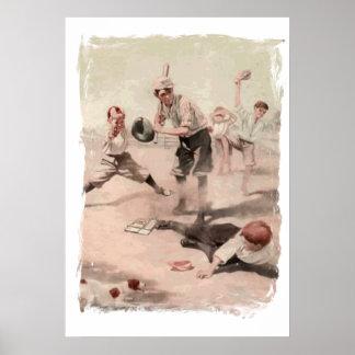 Spielen des Baseballs Posterdrucke