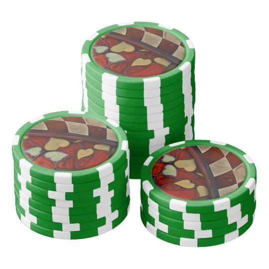 Spielen des Suchvorganges des Fell-n mit der Poker Chips Set