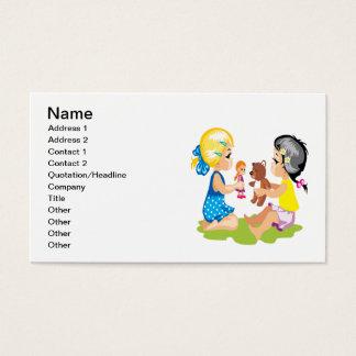 Spielen mit Puppen Visitenkarte