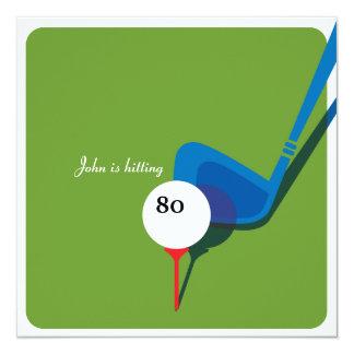 Spielen Sie 80. Geburtstag - noch schwingend Golf! Karte