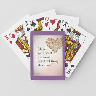 Spielen von Spiele Karten des Herzens der Liebe Spielkarten