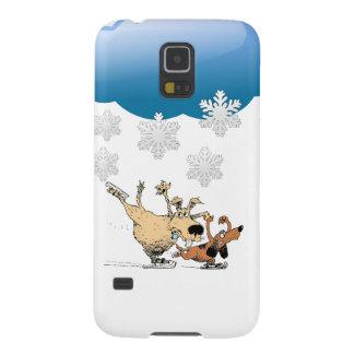 Spielende Hunde und Eis-Skaten - Entwurf auf Hülle Fürs Galaxy S5
