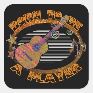 Spieler-Akustikgitarre ID281 Quadratischer Aufkleber