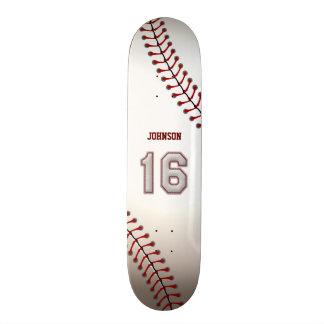 Spieler Nr. 16 - coole Baseball-Stiche Skateboard Bretter