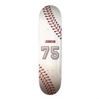 Spieler Nr. 75 - coole Baseball-Stiche 18,1 Cm Old School Skateboard Deck