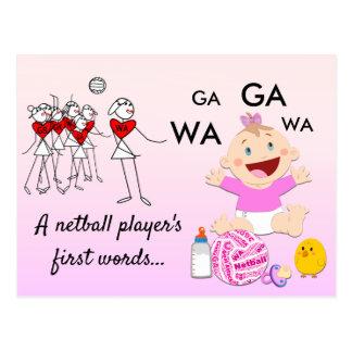 Spieler-Positionenthemenorientiertes lustiges Postkarte