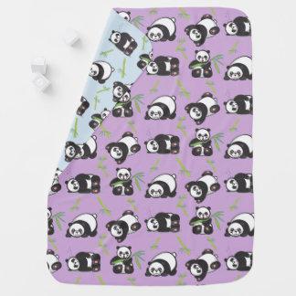 Spielerische Kawaii Panda-Baby-Decke Babydecken