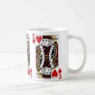 Spielkarte-Kaffee-Tasse König-Of Hearts Kaffeetasse