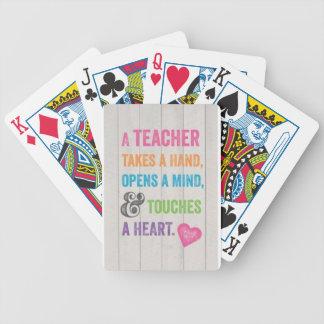 Spielkarte-Lehrer-Zitat Bicycle Spielkarten