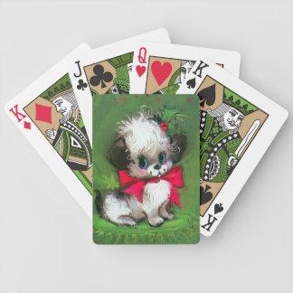 Spielkarte Retro Vintagen Weihnachtswelpe Bicycle Spielkarten