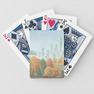 Spielkarte-Stadtbild-Andenken Vancouvers Bicycle Spielkarten