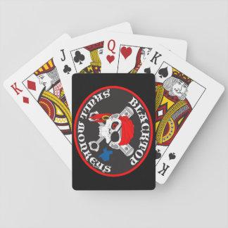 Spielkarten der Asphaltbelag-Schädel-Affen
