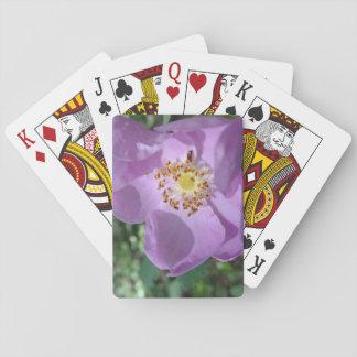 Spielkarten der lila Blume