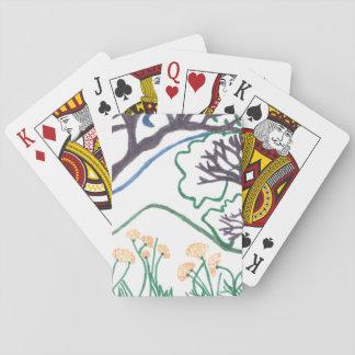 Spielkarten der Natur-Szene,