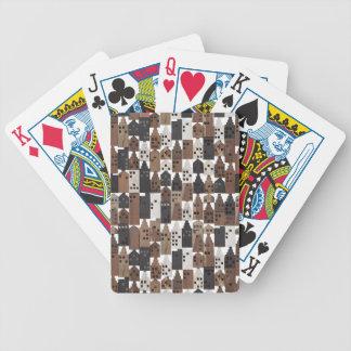 Spielkarten des hölzernen Dorfs