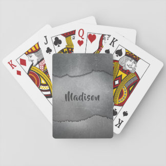 Spielkarten des Imitat-Metallindividuellen Namens