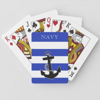 Spielkarten des Marine-Ankers - personifizieren