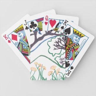 Spielkarten des Natur-Szenen-Pokers