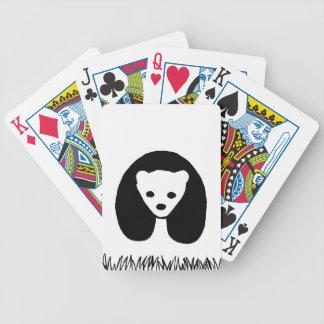 Spielkarten des Panda-Pokers