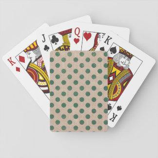 Spielkarten des Punktleinwandgrünfeiertags