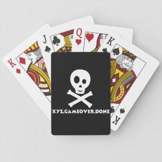 Spielkarten des Schädels