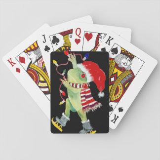 Spielkarten des Weihnachtsfrosches