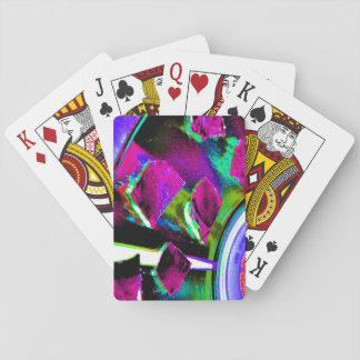 Spielkarten mit abstraktem Bild
